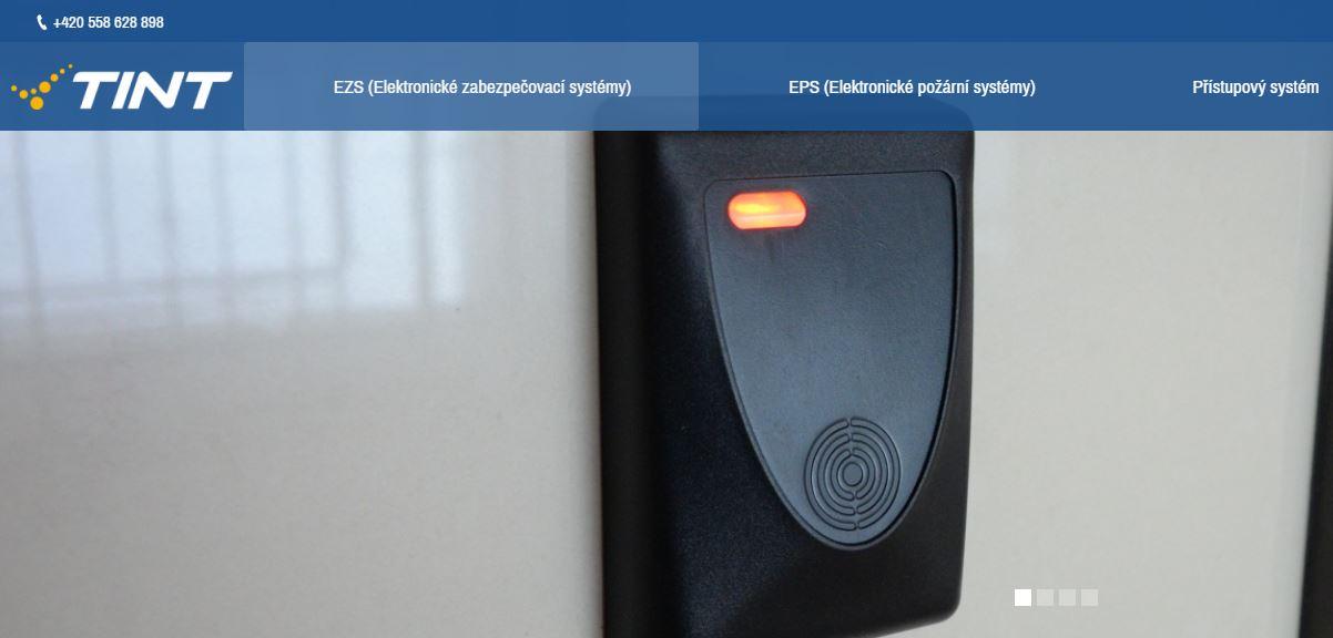 ukázka našeho webu zabezpecovaci-systemy-tint.cz